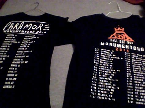 Fall Out Boy Paramore Monumentour 1 Shirt fall out boy and paramore tour shirts by rejectedbandgeek on deviantart