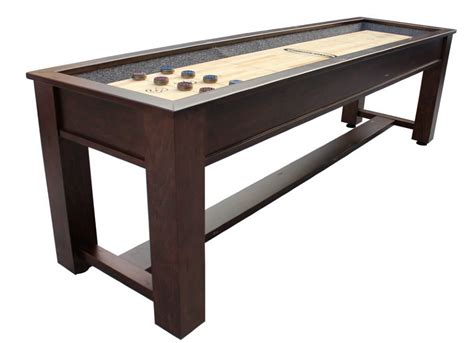 12 foot shuffleboard table berner billiards 9 12 14 or 16 foot shuffleboard table