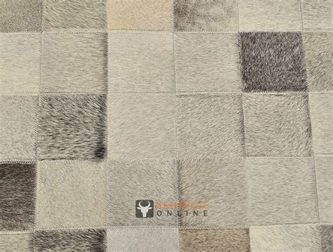 kuhfell patchwork teppich kuhfell teppich mix grau patchwork 200 x 140 cm kuhfelle