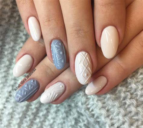 knit pattern nails cable knit sweater nail art trend perfect for winter