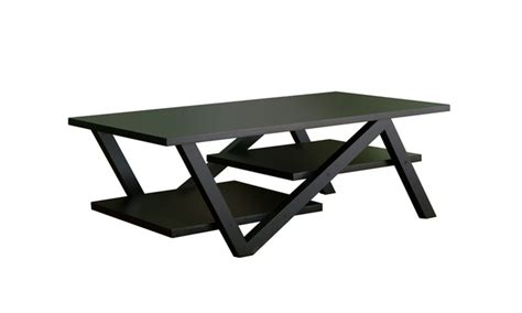 zullah stacked shelf black zig zag base coffee table groupon