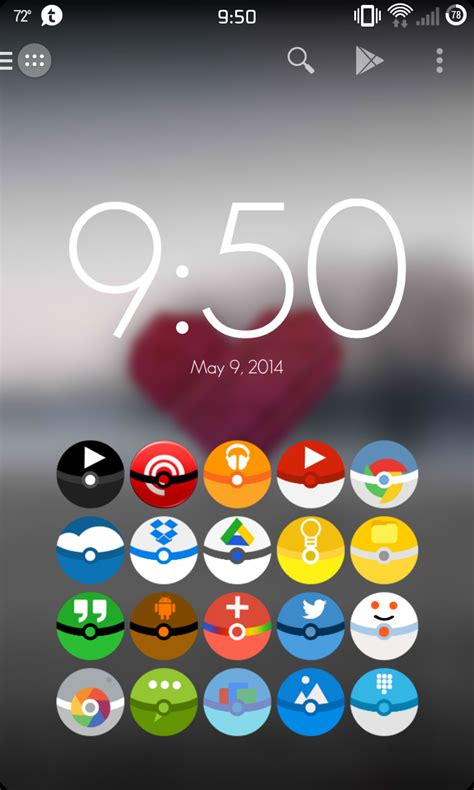 cool icons for android found a really cool android icon pack that changes all your icons to pok 233 balls