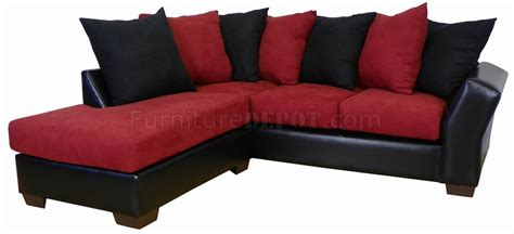 burgundy sectional sofa burgundy fabric black bicast modern sectional sofa