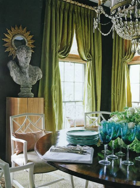 green walls grey curtains green curtains transitional dining room kay douglass