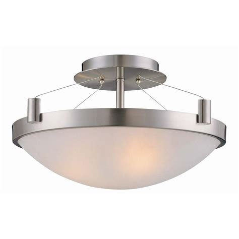 Cheap Light Fixtures Canada Led Semi Flush Mount 15 Quot 23w Dimmable 3000k Bn 1610lm St Led8511 Bn Canada Discount