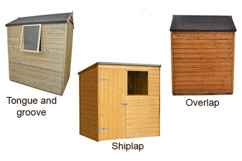 Tongue And Groove Or Overlap Shed shed jargon explained