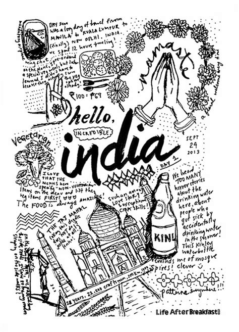 india doodle travel diary india day 1 after breakfast