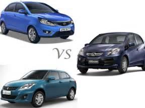 Dzire And Honda Amaze Comparison Tata Zest Vs Honda Amaze Vs Maruti Dzire Compare