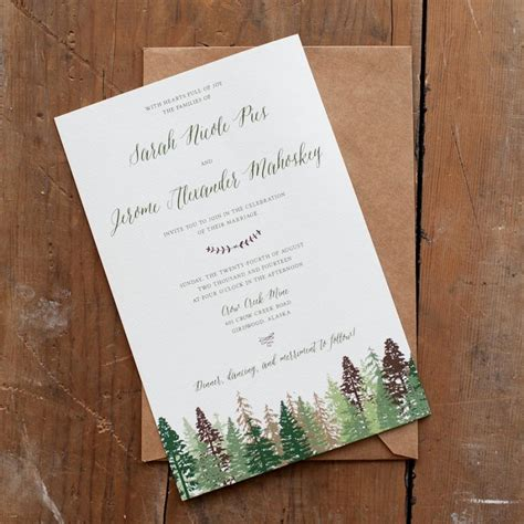 Wedding Invitations With Trees by Wedding Invitation Tree Wedding Invitation Mountain