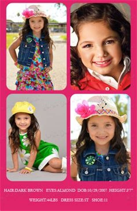 child model comp card template model composite card templates model comp by