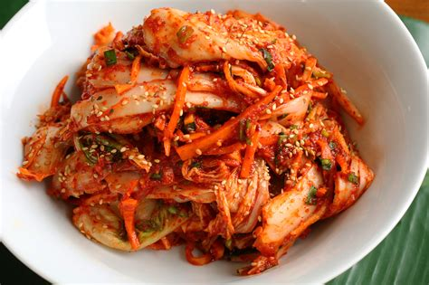 what is in food korean food photo fresh kimchi with barley rice for my