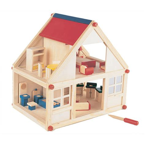 small wooden dolls house children diy 2 storey wooden toy colorful doll house with furniture buy wooden toy
