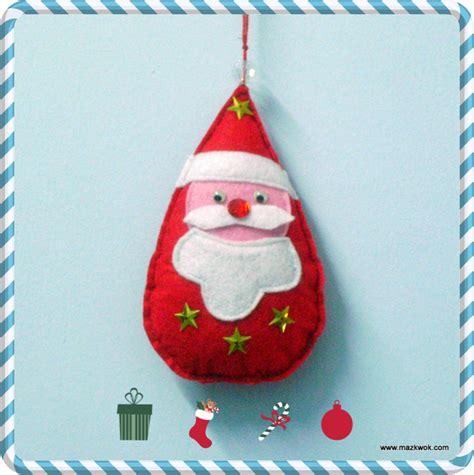 pattern for felt santa santa felt ornament
