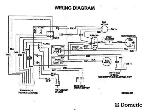 dometic wiring diagram dometic air cond wiring diagram