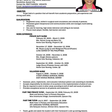 good sle resumes for jobs first job resume exles 1st