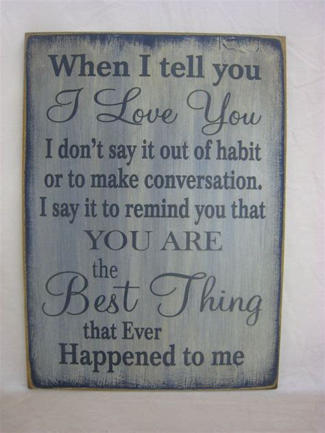 7 Telling Signs That You Are In by Rustic Prim Sign What A Great Way To Tell Someone You