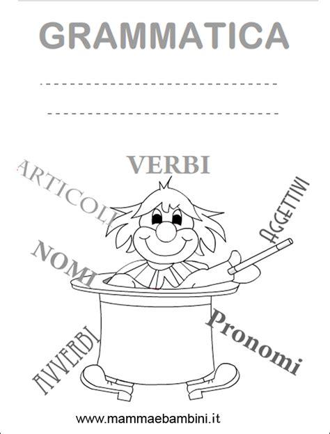 cornici per quaderni scuola primaria copertina quaderno grammatica da stare mamma e bambini