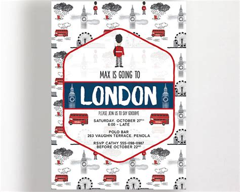 invitation design london london invitation england perfect for farewell party wedding