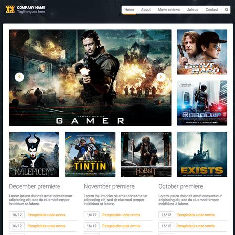 templates for movie website movie reviews responsive website template