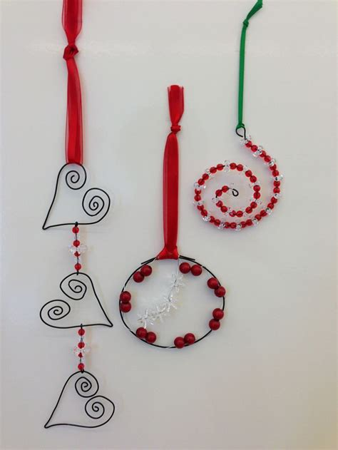 christmas ornaments wire art craft ideas pinterest