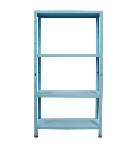 scaffali in kit scaffalatura in kit 75x30x145 4 r incastro azzurro