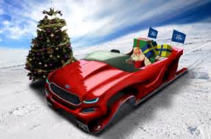 Santa Ford Santa Gets Ford Evos Inspired Sleigh Just In Time For