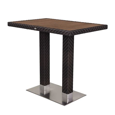 Wicker Bar Table Source Outdoor Arizona Rectangular Wicker Bar Table Wicker Bar Pub Tables Wicker Dining