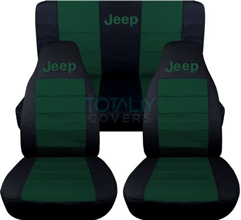 Jeep Logo Seat Covers Wrangler Jeep Wrangler Yj Tj Jk 1987 2017 2 Tone Seat Covers W Logo