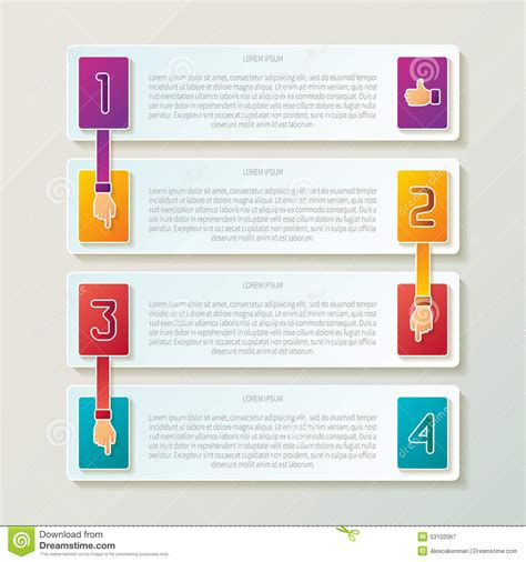 workflow steps abstract vector 4 steps infographic template in 3d style