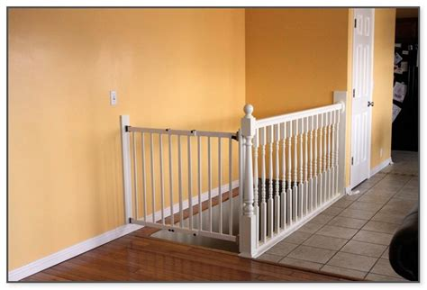 baby gate for banister and wall