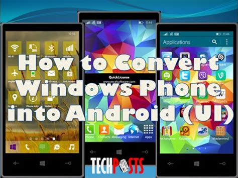 install android on windows phone install android on windows phone and convert it to android ui