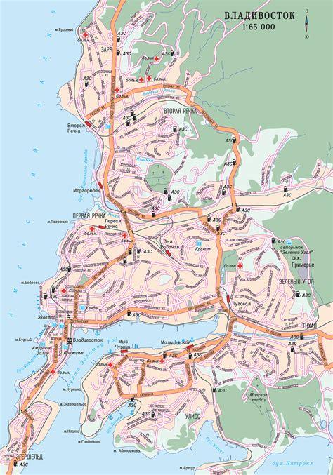 Map of Vladivostok. City maps of Russia ? Planetolog.com