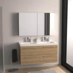 Charmant Eclairage Salle De Bain Conseils #4: meuble-vasque-l-121-x-h-57-7-x-p-46-cm-imitation-chene-naturel-sensea-remix.jpg