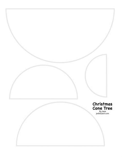 Christmas Cone Tree Template By Janecs At Splitcoaststers Tree Cone Template