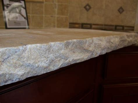 Unpolished Granite Countertops edge sedna granite countertops although it looks it is smooth because the edges