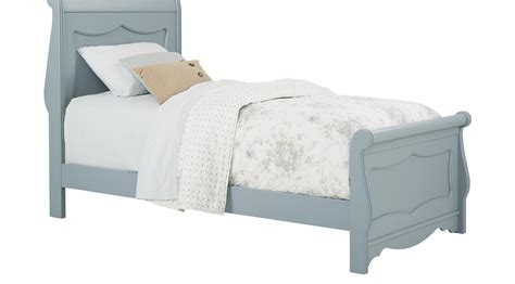 blue twin bed lyla blue 3 pc twin sleigh bed