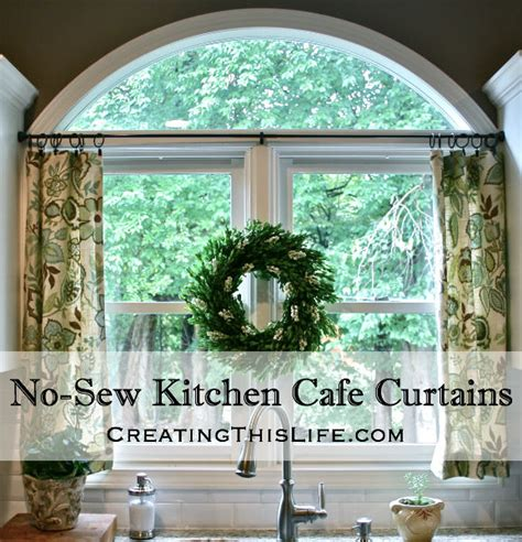 how to hang cafe curtains no sew kitchen caf 233 curtains creating this life