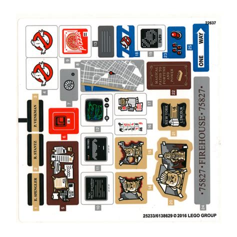 Lego Ghostbusters Stickers lego sticker sheet for set 75827 25233 brick owl