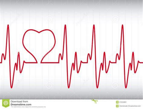 on a cardiogram stock vector image of heartbeat