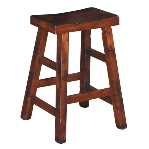 24 Inch High Stools by Designs Santa Fe Traditional 24 Inch High Saddle