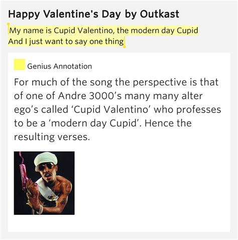 day lyrics outkast my name is cupid valentino the modern day cupid and i