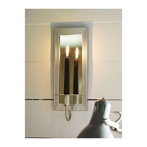 Ikea Wall Sconce 14 99 Gemenskap Wall Sconce Ikea The Mirror Reflects And Enhances The Warm Light From The