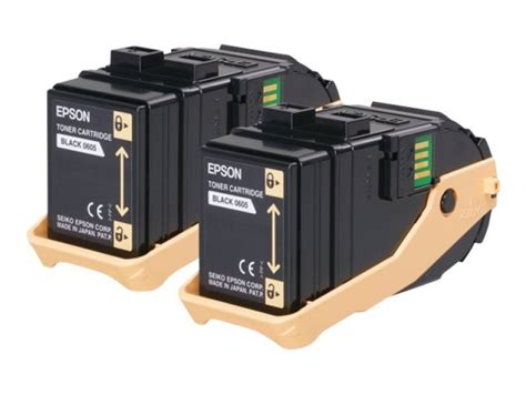 Toner Epson Aculaser C9300n epson 0609 high capacity toner cartridges yield 7500 pages black 2 pack for aculaser c9300n