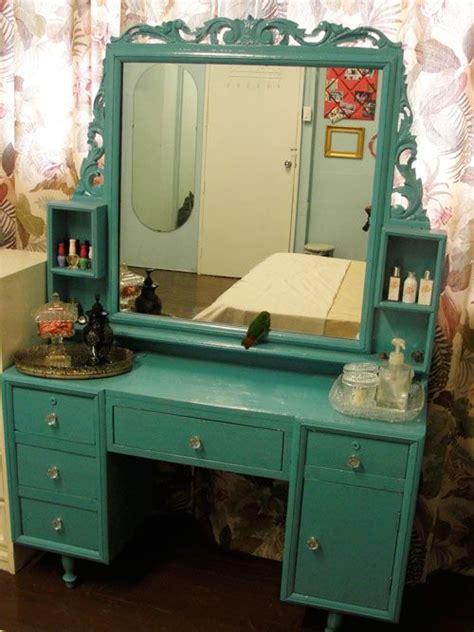teal vanity on my dressing table - Teal Vanity