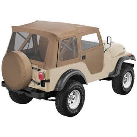 jeep soft top tan bestop soft top new tan jeep cj5 willys 1955 1958 51595 04