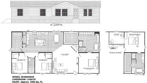 3 bedroom mobile home floor plans 3 bedroom floor plan the graff b 6698 hawks homes manufactured modular conway