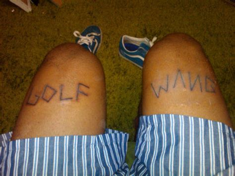 tyler the creator tattoos golf wang oft