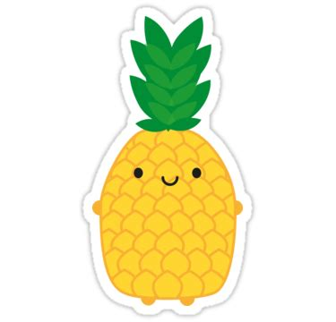 Home Graphic Design Studio by Quot Kawaii Pineapple Quot Stickers By Marceline Smith Redbubble