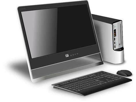 computer desk image free vector graphic computer desktop modern device