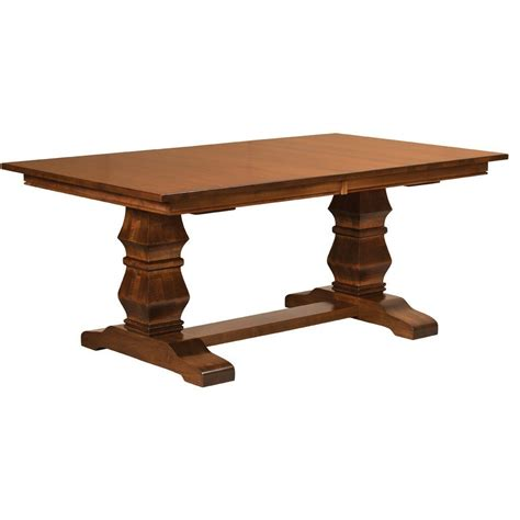 Free Upholstery Samples Bradbury Trestle Extension Table Amish Dining Tables